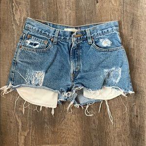 Levi's Distressed Cutoff Shorts